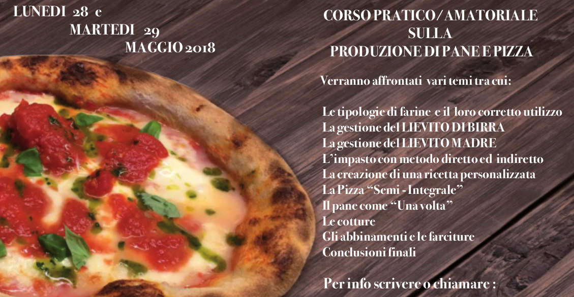 Corso Pratico/Amatoriale di Pizza e Pane